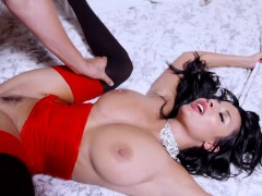 Beautiful French Superstar Anissa Kate Rides Her Boss His