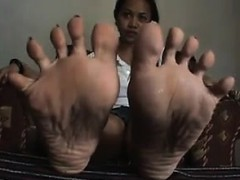 Sweet Asian Girls Feet Close Up Point Of View