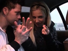 Bitch STOP – Smoking hot blonde in car action
