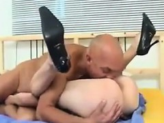 Grandpa And A Teen Girl Having Sex On A Bed