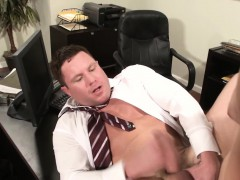 Masturbating Boss Drilled By Voyeur Employee