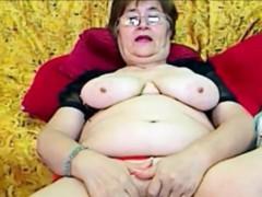 Horny Granny Fingering On Cam