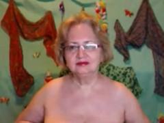 Good Looking Granny In Sexy Black Lingerie Masturbation