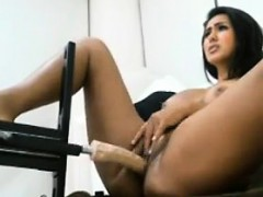 Sexy Latina Fucked By A Machine On Camera