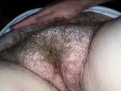 Rubbing And Fingering A Hairy Mature Vagina