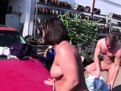 German Milf Mother Sedcue To Fuck Outdoor By Young Boys