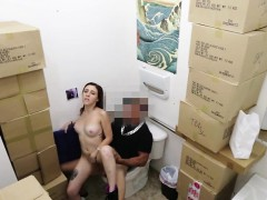 Tattooed Babe Get Banged In The Bathroom