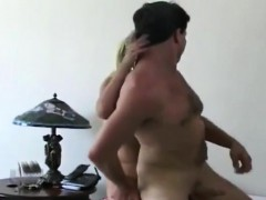 Blonde Femdom Fingers His Arse