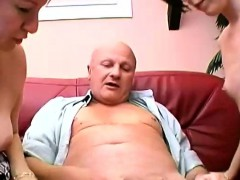 Old Fart With Teen And Mature