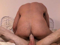 Mature Hunk Rides Blue Eyed Twink Hung Cock