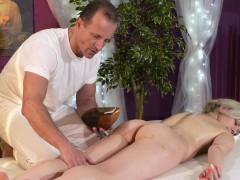 Blonde Milf Fucks On Massage Table