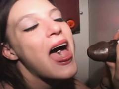 Brunette Dirtbag Sucks Dicks And Take Facials Through Hole