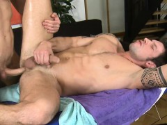 Captivating Fellow Is Delighting Twink With Wild Blowjobs