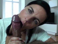 dark-haired-broad-with-pigtails-swallows-a-relentless-meat