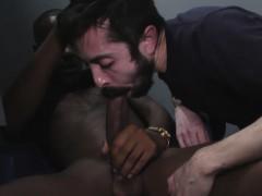 White Man Sucks And Fucks A Black Cock At A Gloryhole
