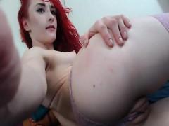 Cute Redhead Teen Spreads Pussy On Webcam