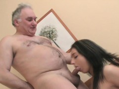 Steaming Young Seductress Loves Old Cock In Mouth And Snatch