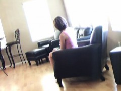 Sexy Slender Blonde With Big Boobs And Long Legs Enjoys A C