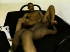 Hunky Black Thug Is Eager To Suck On This Dude's Massive Jackhammer