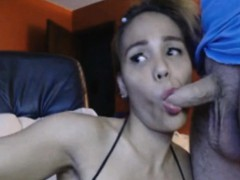 Sexy Shemale Gets A Manly Blowjob