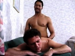 Horny White Guy Has A Black Bull Punishing His Narrow Ass From Behind