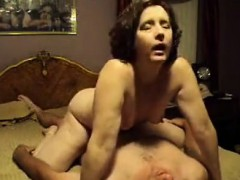 Brunette Milf Moans While Driving That Hard Penis Loud