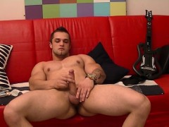 Muscular Tattooed Guy Franc Loves Fapping His Dick Solo