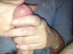 Patting His Penis That Is Hairy To Climax