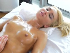rubbing-down-gorgeous-blonde-katrin-tequila-on-table