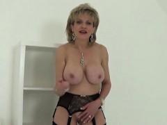 Unfaithful British Milf Lady Sonia Displays Her Huge Knocker