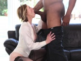 Ella Nova Gives Blowjob to Huge Penis Black Stud