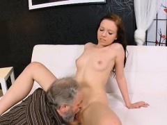 luscious-young-babe-sucks-old-cock-and-gets-pussy-licked