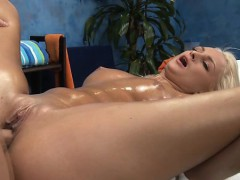 Gal Widens Legs Wide And Begins Shoving Dildo In Her Cunt