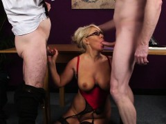 horny-babe-gets-cum-shot-on-her-face-eating-all-the-spunk