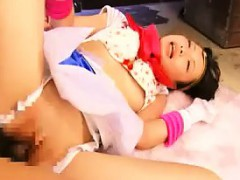 Kinky Asian Babe In Pink Boots Gets Her Snatch Fucked Deep