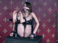 gagged-slave-spanked-while-pussy-punished