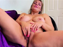 massive natural titted blonde mature masturbating