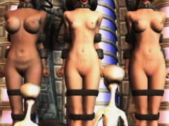 3d Helpless Girls Destroyed By Aliens!