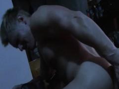Gay Hunk Gets Rimjob