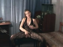 Open Crotch Bodystocking Masturbation