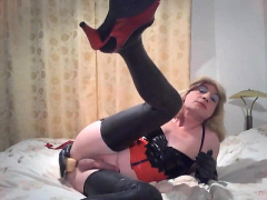 This Inexperienced Crossdresser Wants Latex Underwear