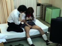 Asian Schoolgirl Goes In For An Exam And He Puts His Hands