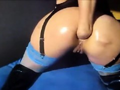 Tramp Fists Anal On Webcam Claribel Live