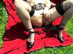 French Amat Passe Xxl Anal Invasion Fake Penis Outdoor