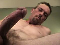 Mature Amateur Scott Beating Off His Stiff Meat
