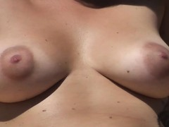 hot-busty-woman-nude-about-the-seaside