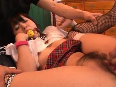 Hawt Asian Slut Strips And Fucks Marital device