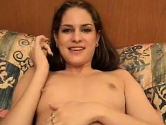 Teasing With Exceptional Dark haired Having A Small Vag Tha