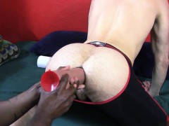 Hot Wolf Anal Dildo And Cumshot