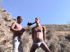 Hot Twink Reece Bentley Getting A Hard Wanking Outdoors